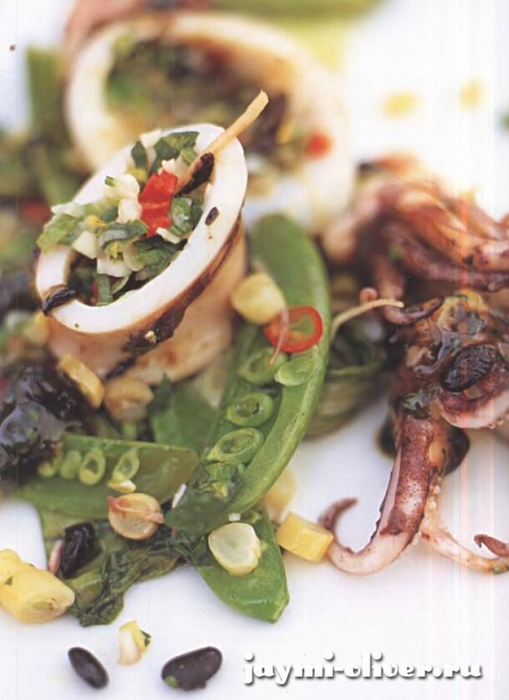 кальмары на пару рецепты